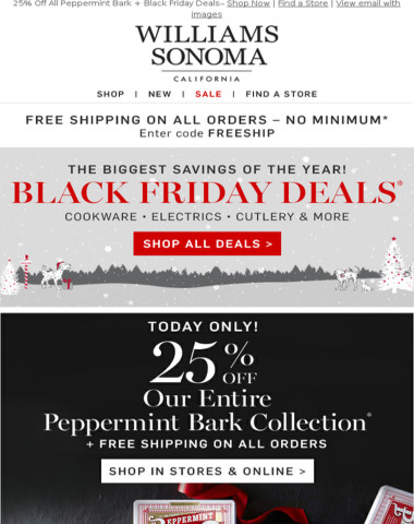 25% Off Peppermint Bark + More BLACK FRIDAY DEALS—Today Only!