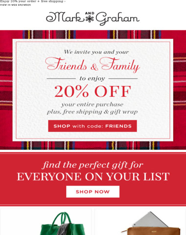 Find the perfect gift and enjoy 20% off + free shipping!