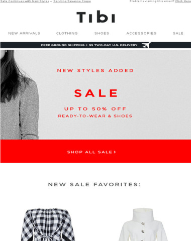New Styles Added: Sale Up to 50% Off