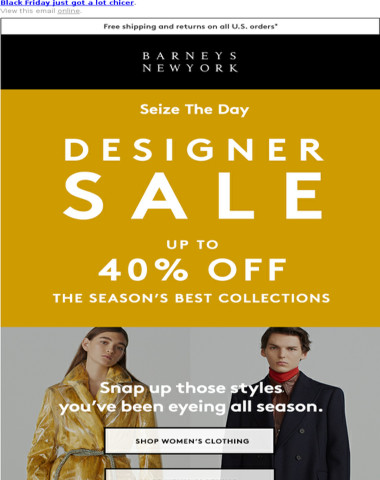 Take Up to 40% Off Designer Collections
