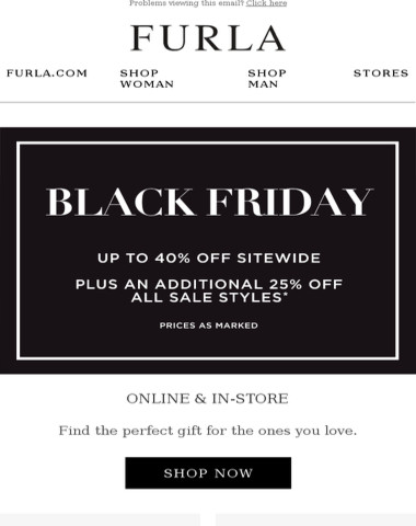 It's Black Friday | Enjoy up to 40% off + additional 25% off sale