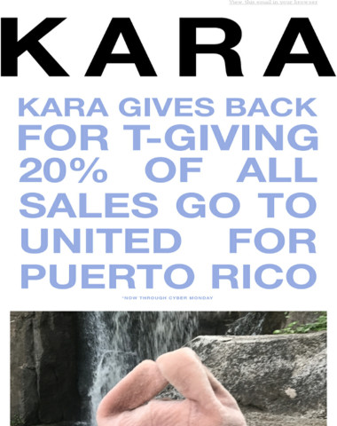 Blackout Friday - KARA Gives Back
