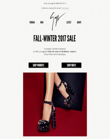 Fall-Winter 2017 Sale
