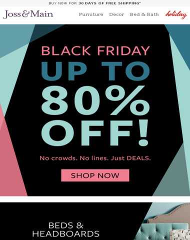 BLACK FRIDAY: up to 80% OFF bedroom, rugs & lighting