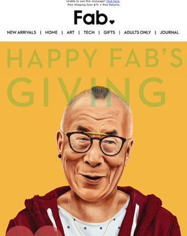 Happy Fab's Giving! Our Black Friday weekend sale starts now!