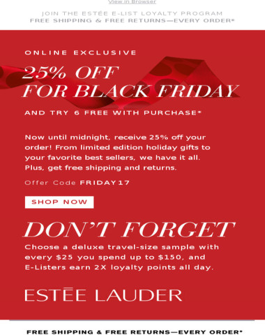 Get 25% Off for Black Friday! Online Only.