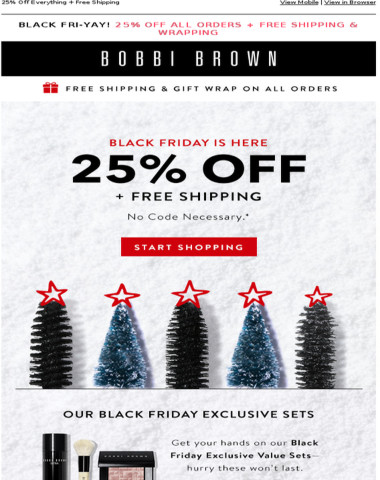 Everything is 25% off, Black Friday Love