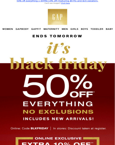 Please take note: you're the recipient of this BLACK FRIDAY CODE
