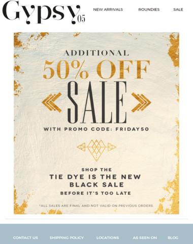 OMG! Additional 50% off sale!