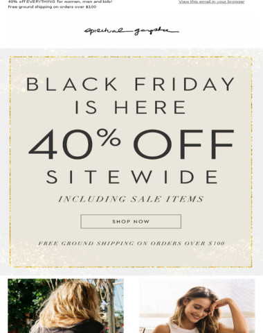 40% Off SITEWIDE: New Arrivals added for Black Friday!