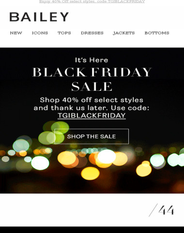 REMINDER!  The Black Friday Sale Event is ON: 40% Off!!