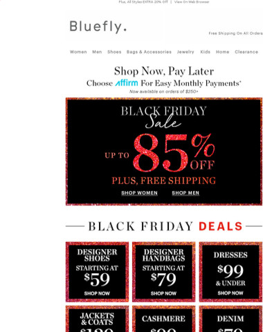 We Made Black Friday Easy: Designer Shoes Starting At $59 | Designer Handbags Starting At $79 | Cashmere Starting At $99