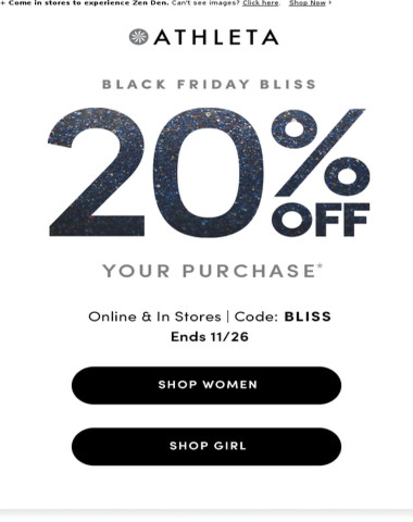 Right. Now. 20% off your entire purchase