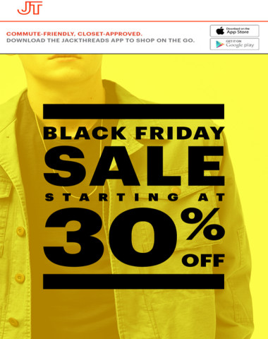 BLACK FRIDAY CONTINUES: Starting At 30% OFF