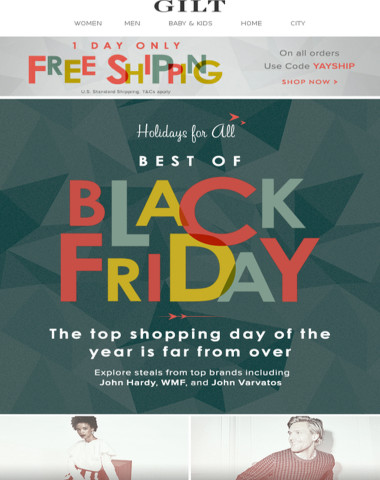 The Best of Black Friday + Last Chance for Free Shipping