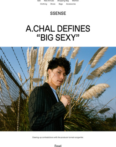 """A.CHAL Defines """"Big Sexy"""": See this week's features"""