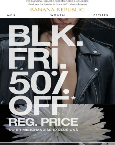 Very last chance: 50% off ends today
