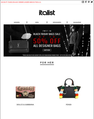 Black Friday Sale | 50% OFF Iconic Designer Bags for Men and Women