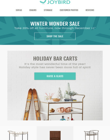 ❯❯❯ Now at Joybird! You won't regret opening this: Holiday Bar Carts