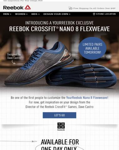 96c7b397702 Reebok - BIG News  YourReebok x Nano 8 Drops TOMORROW!