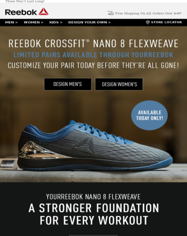 101cefa636d Reebok - YourReebok x Nano 8  EXCLUSIVE One Day Only Access