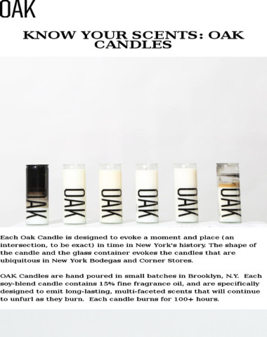 Oak NYC - Know Your Scents: The NYC History Behind OAK Candles