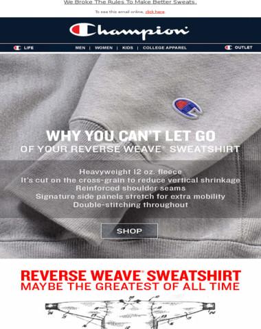 Reverse Weave Sweats, Every Inch A Winner.