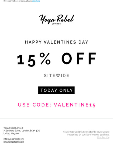 Hey , Happy Valentines! Save 15% All Day Today On Everything!