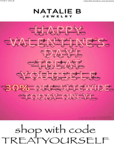 Happy VDay - 30% Off Sitewide