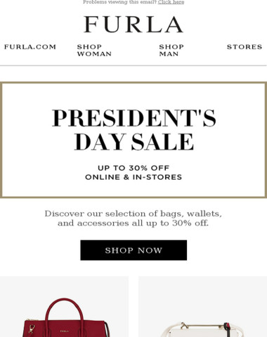 Enjoy up to 30% off this President's Day weekend
