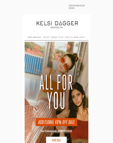 ALL FOR YOU! ADDITIONAL 40% OFF SALE
