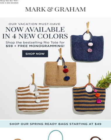 A Vacation Must-Have for $59 + FREE Monogramming!