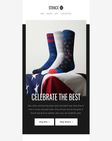 Wear the Victory in Stance Americana