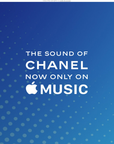 The Sound of CHANEL, only on Apple Music