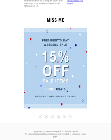 It's The President's Day Weekend Sale!❤