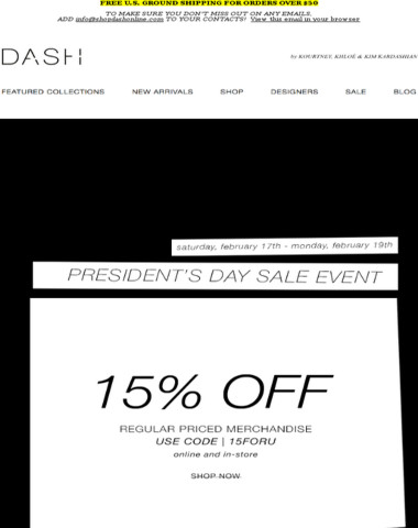 President's Day Sale Event, starts now!