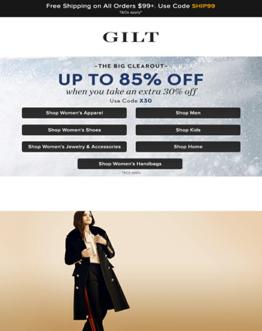 Still On: Extra 30% Off Clearance. Plus, Back on Gilt: Burberry Apparel | Street-Chic Accessories and More Start Now