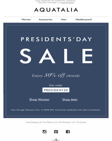 PRESIDENT'S DAY SALE | 30% off sitewide