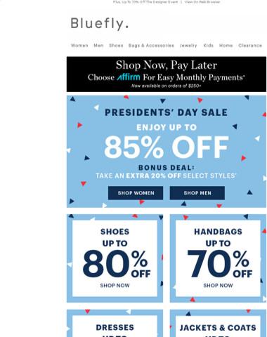 Saturday = DEALS. Up To 85% Off Coats, Shoes, Handbags & More