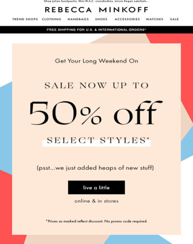 SALE up to 50% OFF + New Styles Added