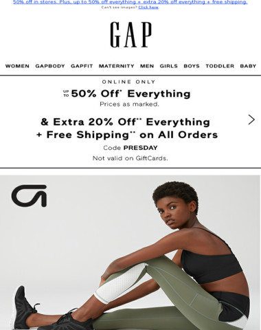 Every. Single. Thing. AND 50% off in stores