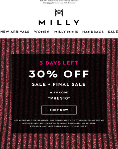 Only 3 More Days For 30% OFF!