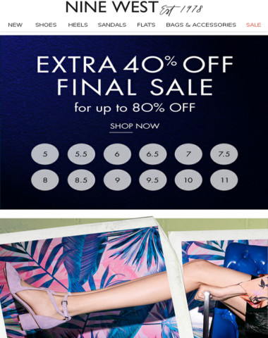 Time to Shop: Up to 80% Off Sale
