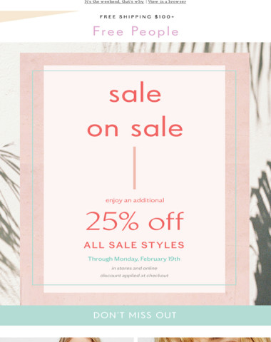 Shop this sale on sale—ASAP!