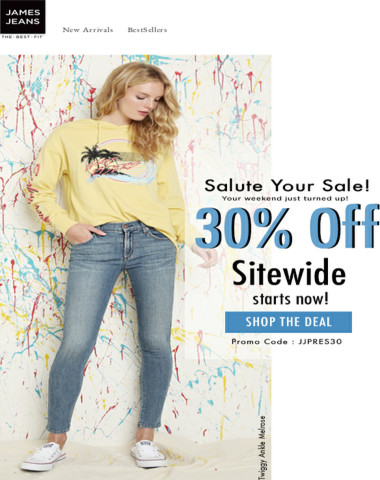 Salute Your Sale! 30% Off Sitewide starts now!