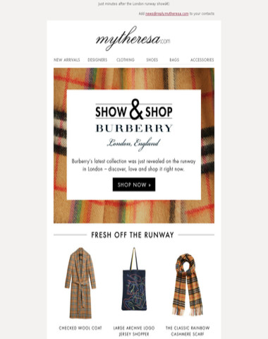 Fresh off the runway: Burberry FebruaryRunway Collection