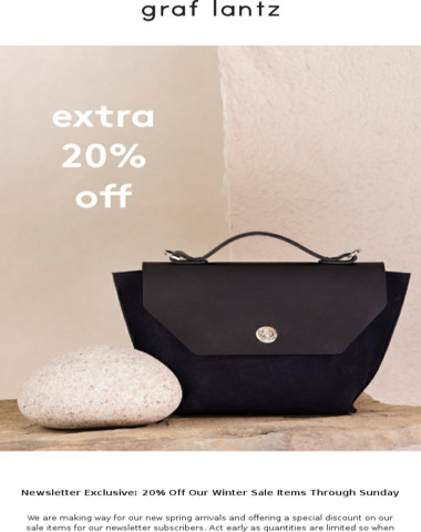 Only 2 Days Left - Extra 20% Off Winter Sale Through Sunday