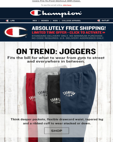 Free Ship + The Jogger, A Little Retro, A Lot Of Cool.