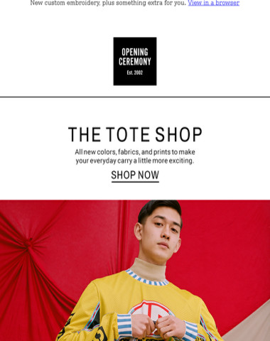 Opening Ceremony The Tote Shop All New Styles In Now