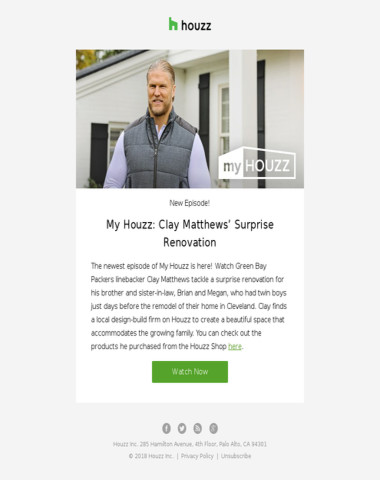 Watch My Houzz: Clay Matthews' Surprise Renovation